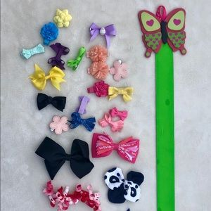 Hair bow Lot Hairbows Butterfly Holder